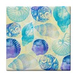 Seashells Tile Coasters Front