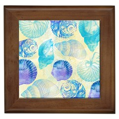 Seashells Framed Tiles