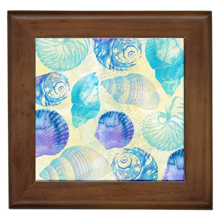 Seashells Framed Tiles