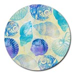 Seashells Round Mousepads Front