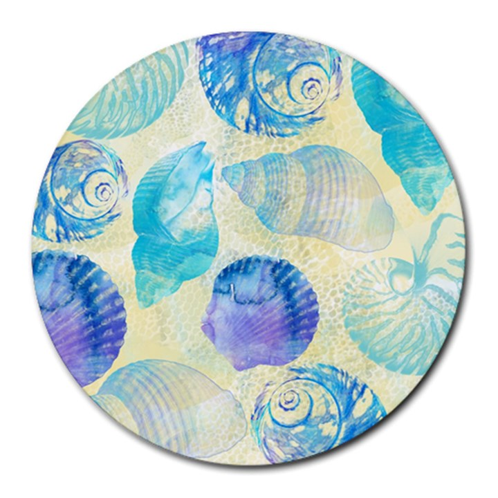 Seashells Round Mousepads