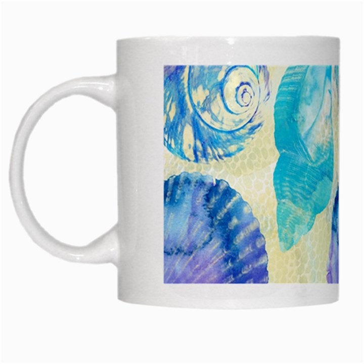 Seashells White Mugs