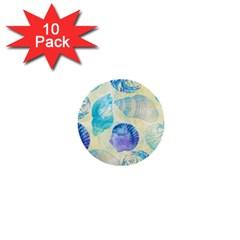 Seashells 1  Mini Buttons (10 Pack)