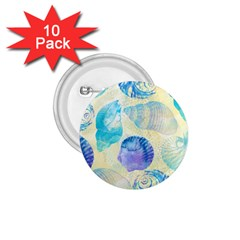 Seashells 1.75  Buttons (10 pack)