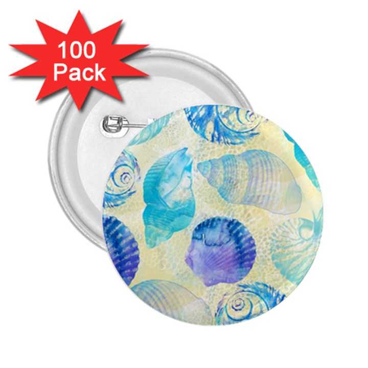 Seashells 2.25  Buttons (100 pack)