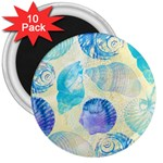 Seashells 3  Magnets (10 pack)  Front