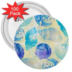 Seashells 3  Buttons (100 pack)