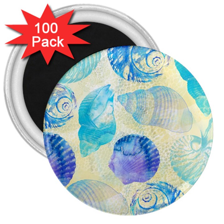 Seashells 3  Magnets (100 pack)