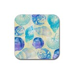 Seashells Rubber Coaster (Square)  Front