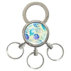Seashells 3-Ring Key Chains