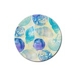 Seashells Rubber Coaster (Round)  Front