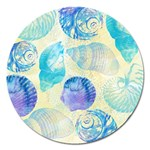 Seashells Magnet 5  (Round) Front