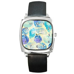 Seashells Square Metal Watch