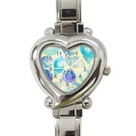 Seashells Heart Italian Charm Watch Front