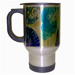 Seashells Travel Mug (Silver Gray) Left