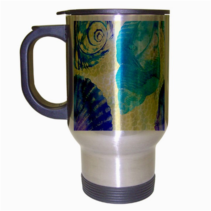 Seashells Travel Mug (Silver Gray)