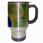 Seashells Travel Mug (Silver Gray) Right