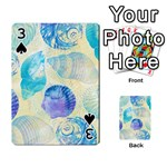 Seashells Playing Cards 54 Designs  Front - Spade3