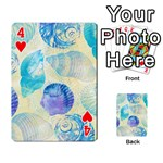 Seashells Playing Cards 54 Designs  Front - Heart4