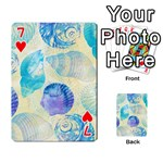 Seashells Playing Cards 54 Designs  Front - Heart7
