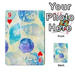 Seashells Playing Cards 54 Designs  Front - Heart9