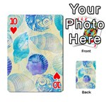 Seashells Playing Cards 54 Designs  Front - Heart10