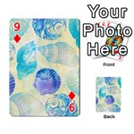 Seashells Playing Cards 54 Designs  Front - Diamond9