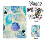 Seashells Playing Cards 54 Designs  Front - ClubK