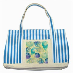 Seashells Striped Blue Tote Bag