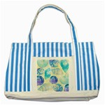Seashells Striped Blue Tote Bag Front