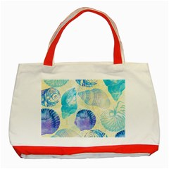 Seashells Classic Tote Bag (Red)