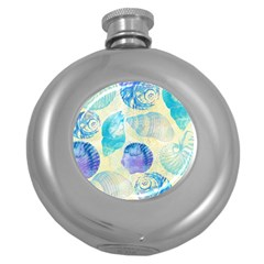 Seashells Round Hip Flask (5 oz)