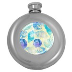 Seashells Round Hip Flask (5 oz) Front