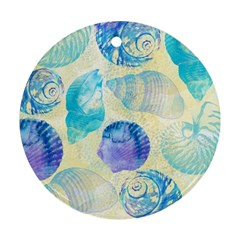 Seashells Round Ornament (Two Sides)