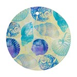 Seashells Round Ornament (Two Sides)  Front