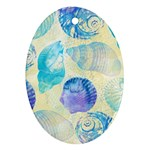 Seashells Oval Ornament (Two Sides) Front