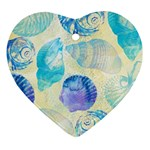 Seashells Heart Ornament (2 Sides) Back