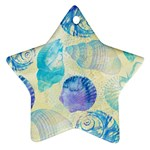 Seashells Star Ornament (Two Sides)  Front