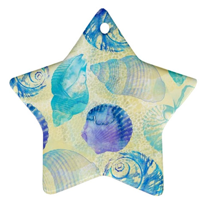 Seashells Star Ornament (Two Sides)