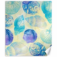 Seashells Canvas 8  x 10