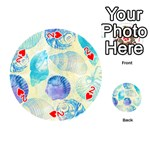 Seashells Playing Cards 54 (Round)  Front - Heart2