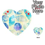 Seashells Playing Cards 54 (Heart)  Front - Heart9