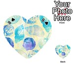 Seashells Playing Cards 54 (Heart)  Front - Spade8