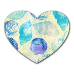 Seashells Heart Mousepads Front