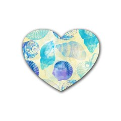 Seashells Rubber Coaster (Heart)