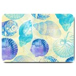 Seashells Large Doormat  30 x20 Door Mat - 1