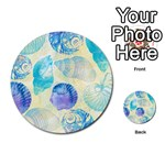 Seashells Multi-purpose Cards (Round)  Front 40