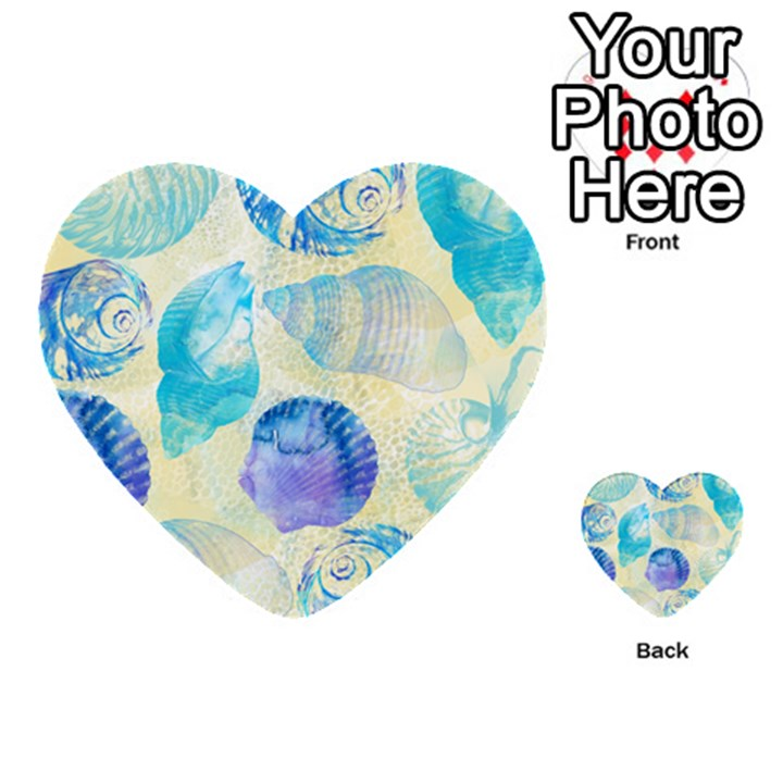 Seashells Multi-purpose Cards (Heart)