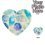 Seashells Multi-purpose Cards (Heart)  Back 1