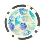 Seashells Poker Chip Card Guards (10 pack)  Back